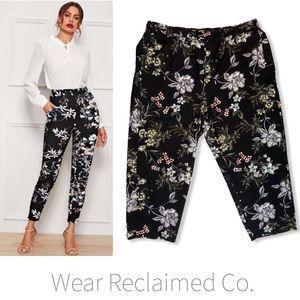 LILY MORGAN Floral Dressy Stretch Pants - 2X